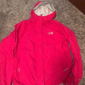 Pink North Face Windbreaker